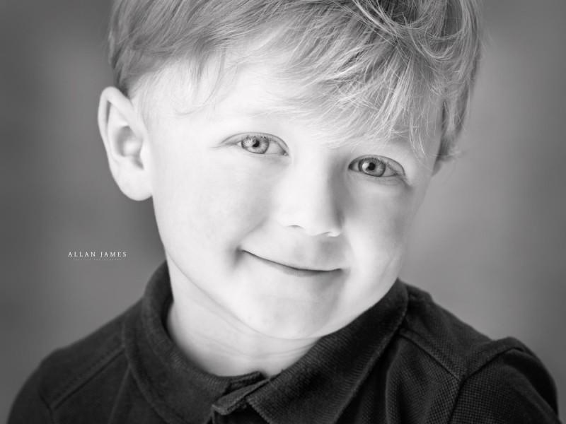 Black&White children's headshot photographer llanharan bridgend Cowbridge South Wales