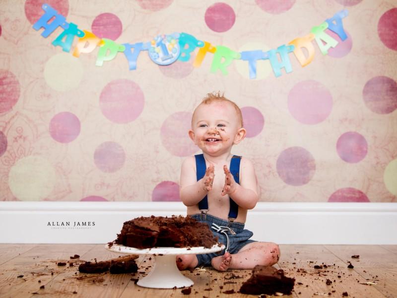 Cake Smash Photographer Porthcawl Bridgend South Wales Allan James