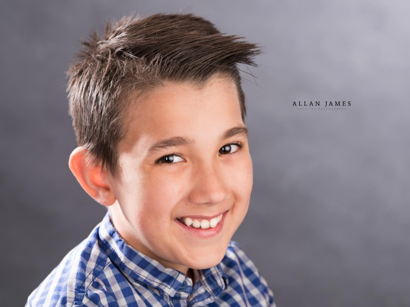 Headshot photographer professional children's photographer Allan James South Wales