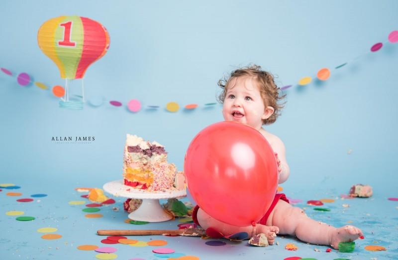 Hot Air Balloon Cake Smash Birthday