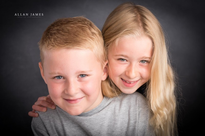 Studio Photography Children's portraits Allan James of Cardiff Bridgend South Wales