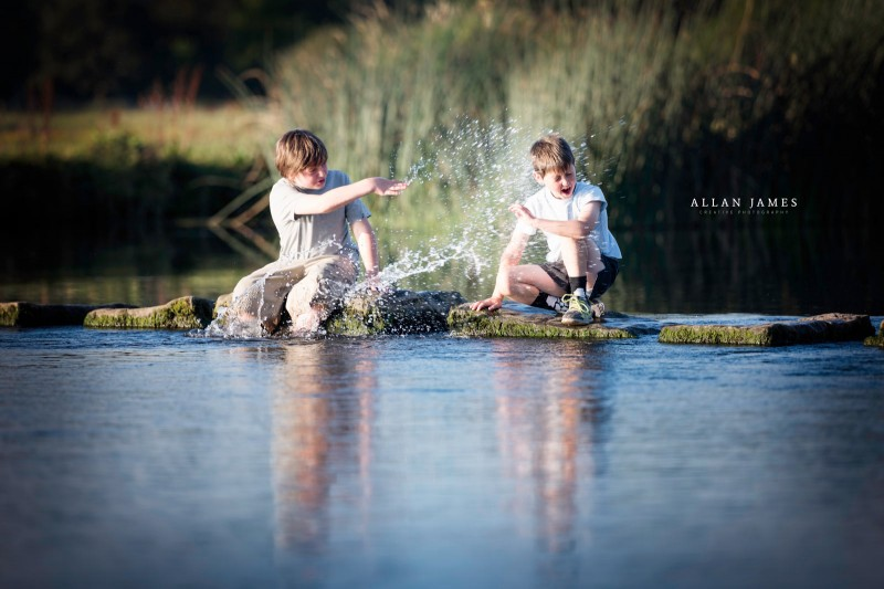 children-playing-ogmore-bridgend
